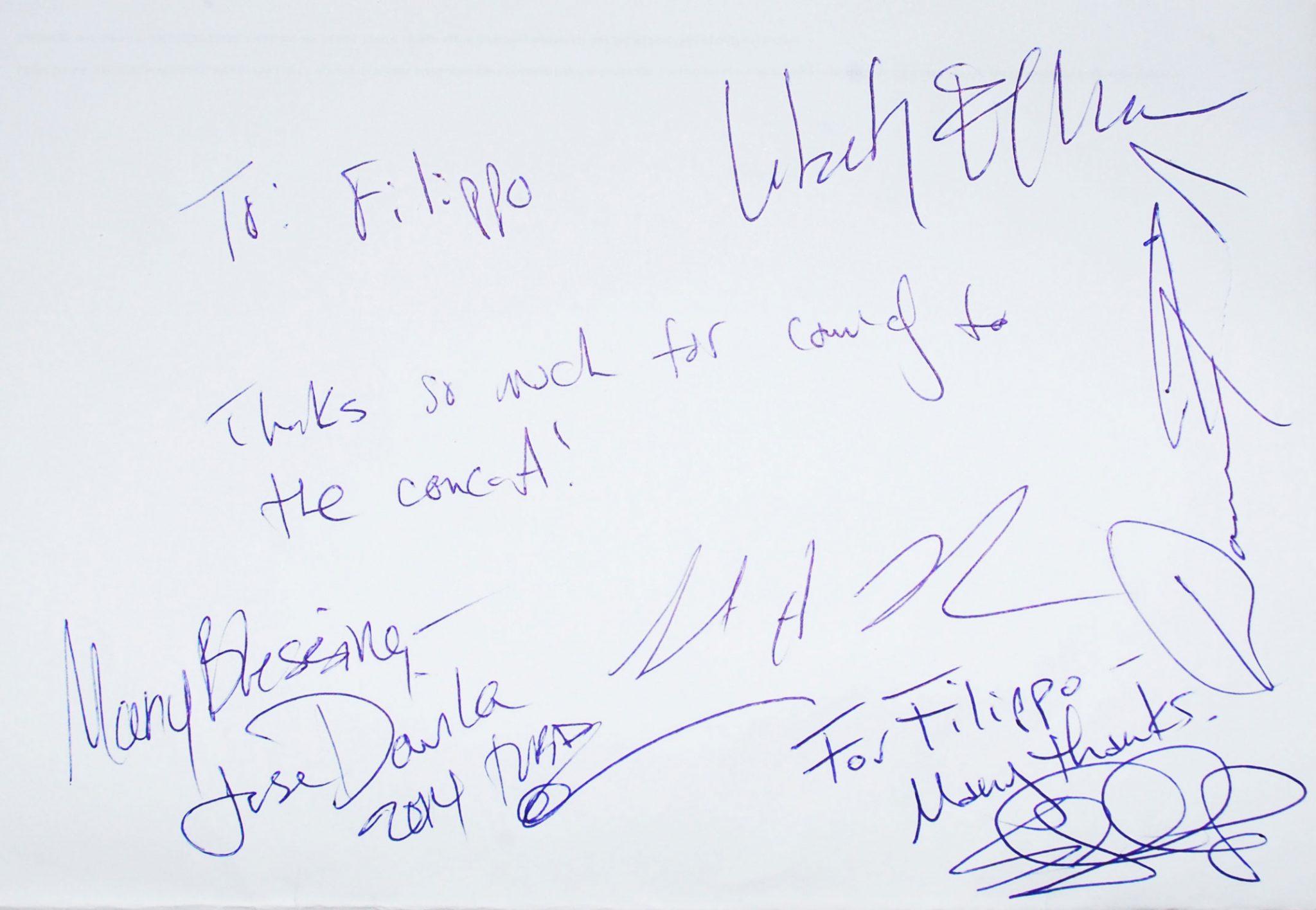 Dedica del Liberty Ellman Quintet a Filippo