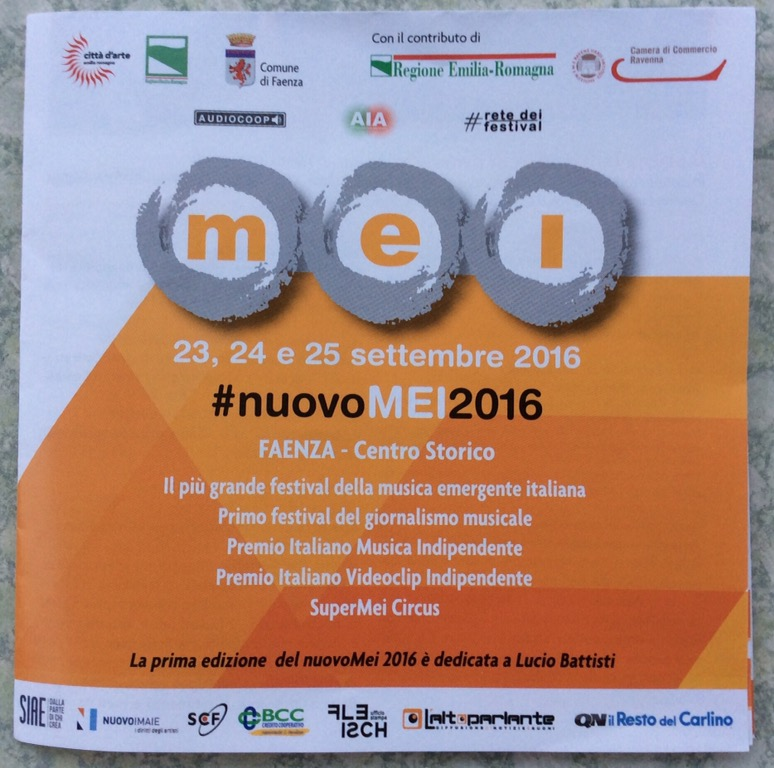 Inizia oggi a Faenza il MEI, Meeting delle Etichette Indipendenti 2016